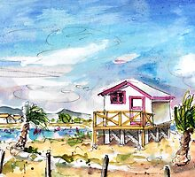 House On Stilts By Gruissan by Goodaboom