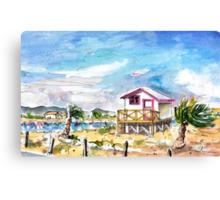 House On Stilts By Gruissan Canvas Print