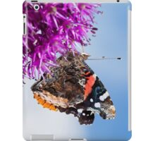 Red Admiral Butterfly on Allium Flower iPad Case/Skin