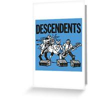 Descendents Cartoon Greeting Card