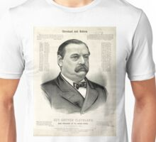 Gov. Grover Cleveland, 22nd President of the United States - 1885 Unisex T-Shirt