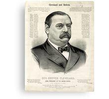 Gov. Grover Cleveland, 22nd President of the United States - 1885 Canvas Print