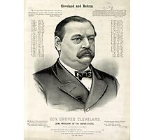 Gov. Grover Cleveland, 22nd President of the United States - 1885 Photographic Print