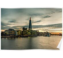 Sunset over the Thames Poster
