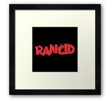 Rancid Logo Framed Print