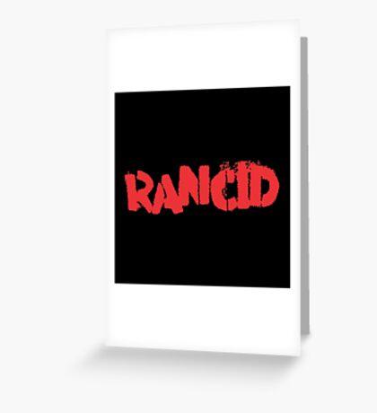 Rancid Logo Greeting Card