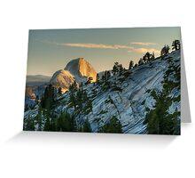 Half Dome at Sunset Greeting Card