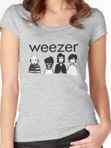 Blue Cartoon Women's Fitted Scoop T-Shirt