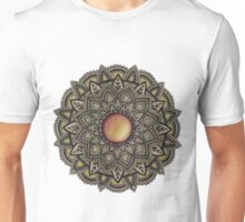 Golden Gemstone Mandala Unisex T-Shirt