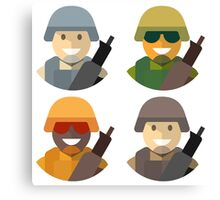 Army Soldiers Canvas Print