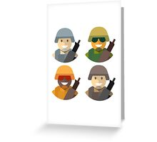 Army Soldiers Greeting Card