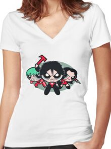 Cute Vengeance Women's Fitted V-Neck T-Shirt