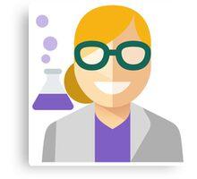 Blonde Scientist Woman Canvas Print
