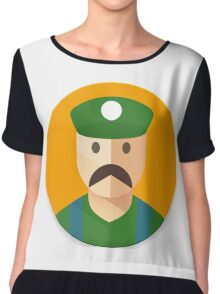 Luigi Icon Chiffon Top