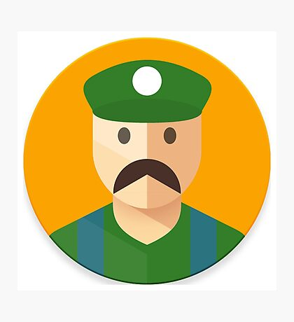 Luigi Icon Photographic Print