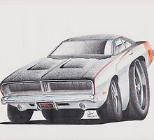 Dodge Charger 1969 by GlensGraphix