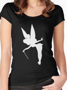 White Tinker Silhouette Women's Fitted Scoop T-Shirt