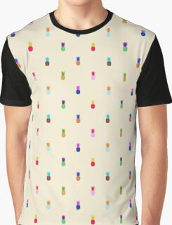 Pineapple Colourful Pattern Graphic T-Shirt