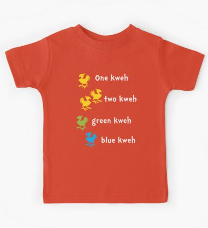 One Kweh Two Kweh Green Kweh Blue Kweh Kids Tee