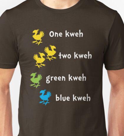 One Kweh Two Kweh Green Kweh Blue Kweh Unisex T-Shirt