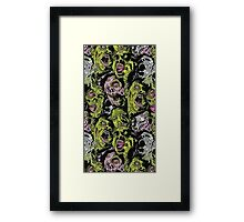 Zombies Everywhere!!! Framed Print