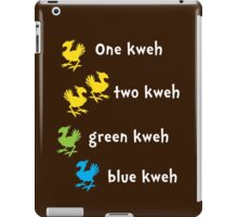 One Kweh Two Kweh Green Kweh Blue Kweh iPad Case/Skin