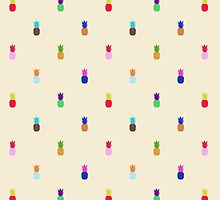 Pineapple Colourful Pattern by jezkemp