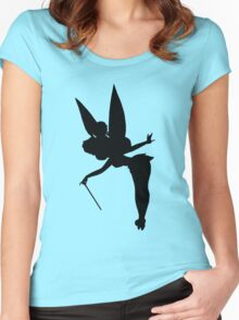 Black Tinker Silhouette Women's Fitted Scoop T-Shirt