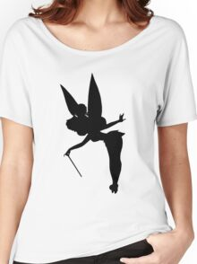 Black Tinker Silhouette Women's Relaxed Fit T-Shirt