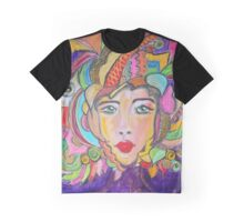 Colorful Warrior Graphic T-Shirt