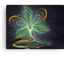 Peacock Flower Canvas Print