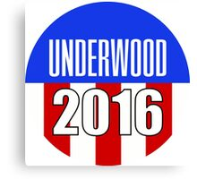 Underwood 2016 'House of Cards' Netflix Election Campaign Art Canvas Print