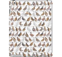 Doves on Wires Watercolor Pattern iPad Case/Skin