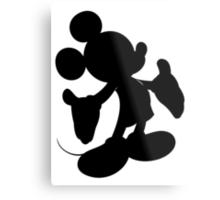 Black Mickey Mouse Silhouette Metal Print