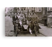 Family and friends - London 1920s Canvas Print