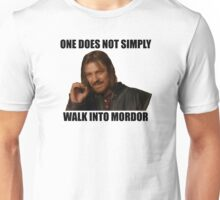 One does not simply walk into Mordor - Meme Unisex T-Shirt