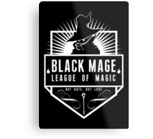 League of Magic: Black Metal Print