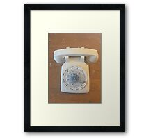 Phone it in Framed Print