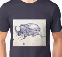 Horned Scarab Beetle By Liz H Lovell Unisex T-Shirt