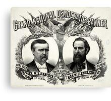 Grand national Democratic banner 1880 - 1880 Canvas Print