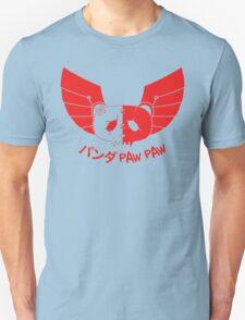 Panda Paw Paw Winged Bison Design (Red) Unisex T-Shirt