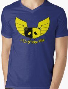 Panda Paw Paw Winged Bison Design (Yellow) Mens V-Neck T-Shirt