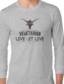 Vegan Vegetarian Long Sleeve T-Shirt