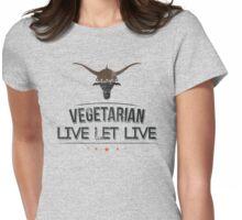 Vegan Vegetarian Womens Fitted T-Shirt