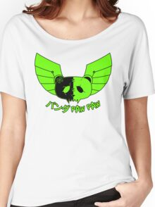 Panda Paw Paw Winged Bison Design (Green) Women's Relaxed Fit T-Shirt