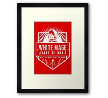 League of Magic: White Framed Print