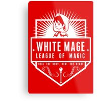 League of Magic: White Metal Print