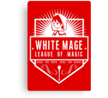 League of Magic: White Canvas Print