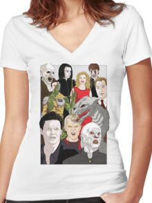 Buffy Big Bad Poster Women's Fitted V-Neck T-Shirt