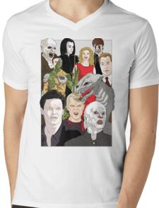 Buffy Big Bad Poster Mens V-Neck T-Shirt